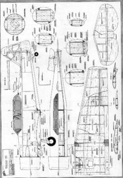 Texan T6 model airplane plan
