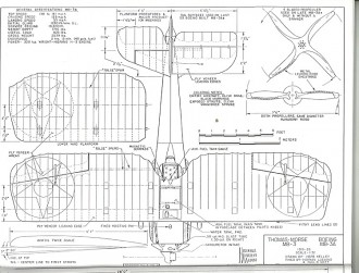 Thomas-Morse MB-3 Boeing MB-3A model airplane plan