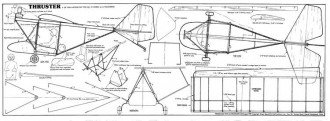 Thruster model airplane plan