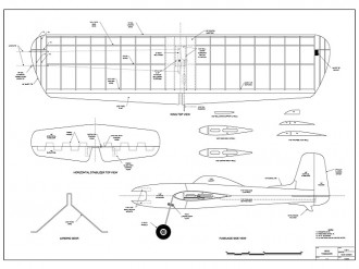 Veco Tomahawk model airplane plan