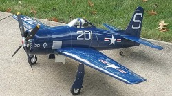 Top Flite F8F Bearcat model airplane plan