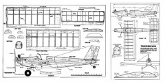 Touchdown model airplane plan