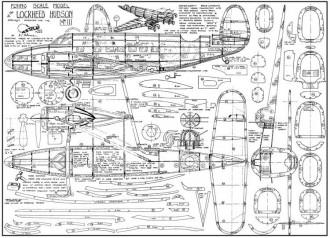 Lockheed Hudson model airplane plan