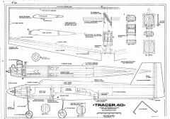 Tracer 40 RCM model airplane plan