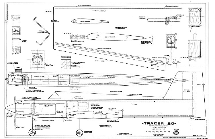 Tracer 60 model airplane plan