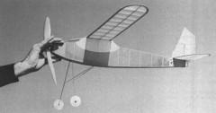 Trainer model airplane plan
