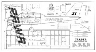 Traper model airplane plan