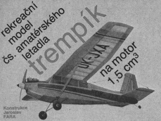 Trempik model airplane plan