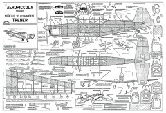 Zlin Z-226 Trener Aeropiccola model airplane plan