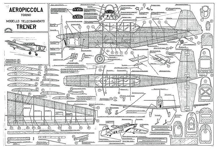 Zlin Z-226 Trener Aeropiccola model airplane plan