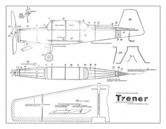 Trener model airplane plan