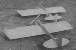 Trener model airplane plan