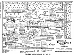 Triple Threat-MAN-06-55 model airplane plan