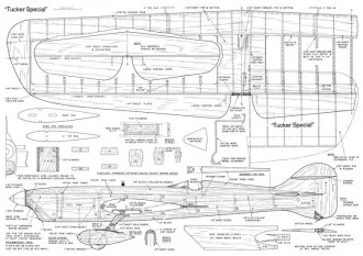 Tucker Special model airplane plan