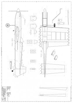 Tupinike Jr CL model airplane plan