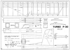 Turbo P-30 model airplane plan
