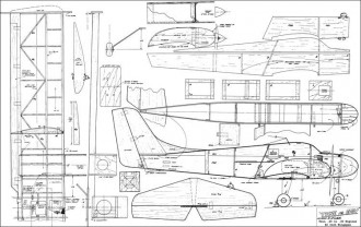 Twice As Easy 62in model airplane plan