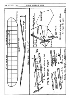 Twin Amphibian MAN-1935 model airplane plan