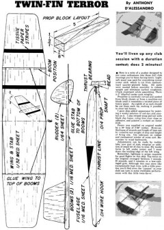 Twin Fin Terror model airplane plan