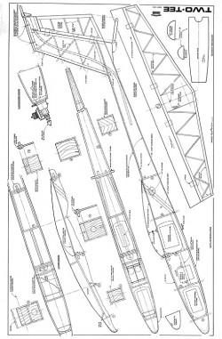 Two-Tee 2m sailplane model airplane plan