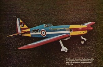 Two Fighters model airplane plan