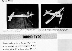 Torrid Tyro model airplane plan