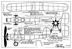 Udet U-12a model airplane plan