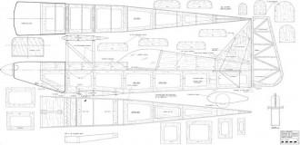 28% Ultimate Biplane model airplane plan