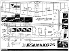 Ursa Major 25 model airplane plan
