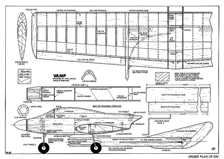 Vamp model airplane plan