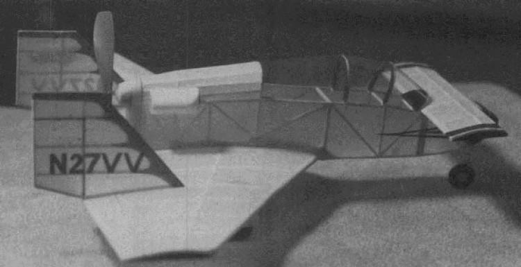 Vari Viggen model airplane plan