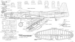 Veco Thunderbird II model airplane plan