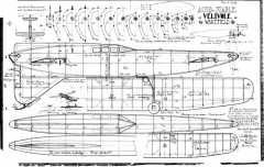 Velivole Auto-Stable Wakefield model airplane plan