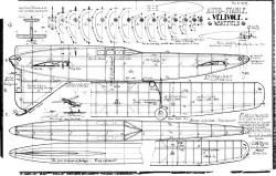 Velivole Auto-Stable Wakefield model airplane plan