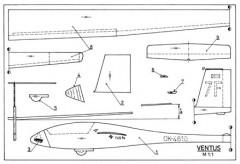 Ventus model airplane plan