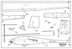 Ventus model airplane plan