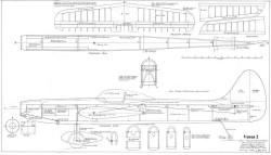 Venus 2 model airplane plan