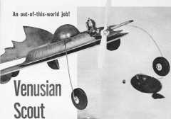 Venusian Scout model airplane plan