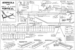 Vertical Aeropiccola model airplane plan