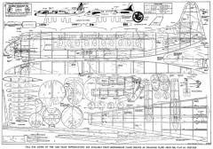Vickers Viscount model airplane plan
