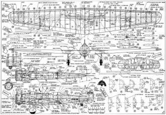 Vickers Wellesley RC 37in model airplane plan