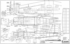 Victa Airtourer 115 RCM-515 model airplane plan
