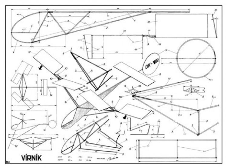 Virnik model airplane plan