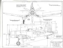 Vough F4U-ID Corsair model airplane plan