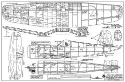 Vought F4U-1D Corsair model airplane plan