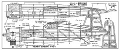 Vought F4U-1 Corsair model airplane plan