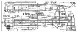 Vought F4U-1 Corsair model airplane plan