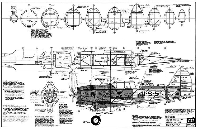 Vought SBU-1 model airplane plan