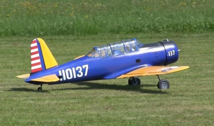 Vultee BT-13A model airplane plan