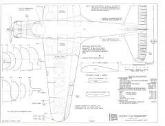 Vultee V1A Transport model airplane plan